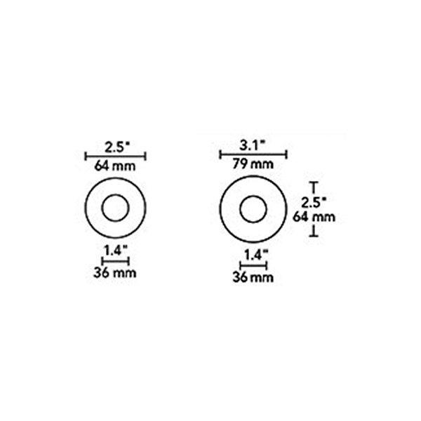 2 Inch Round Beveled LED Trim