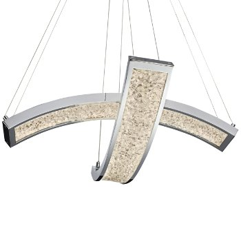 Crushed Ice LED 2-Light Pendant