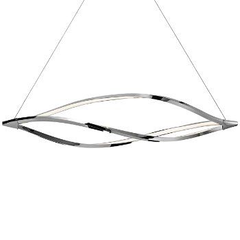 Meridian Chrome LED Linear Suspension