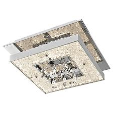Crushed Ice Square LED Flushmount Light
