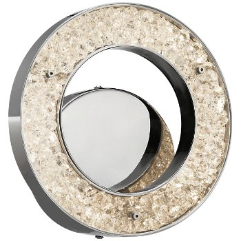 Crushed Ice LED Circular Wall Sconce