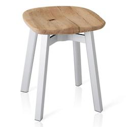 Su Small Stool, Wooden Seat