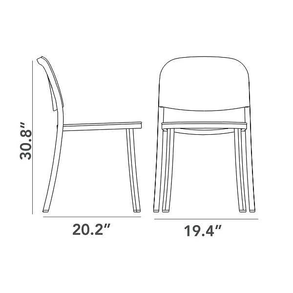 1 Inch Stacking Chair