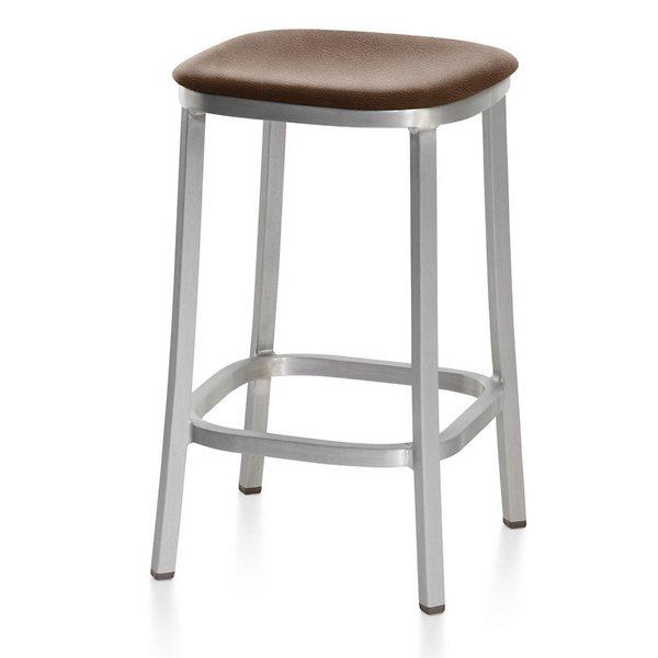 1 Inch Stool, Upholstered