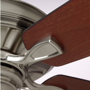 Shown in Brushed Steel with Dark Mahogany/Walnut