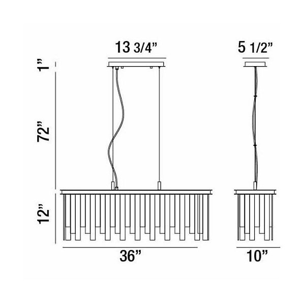 Candice Linear Suspension