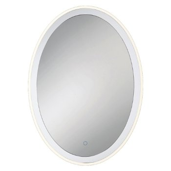 Edge-Lit Oval LED Mirror