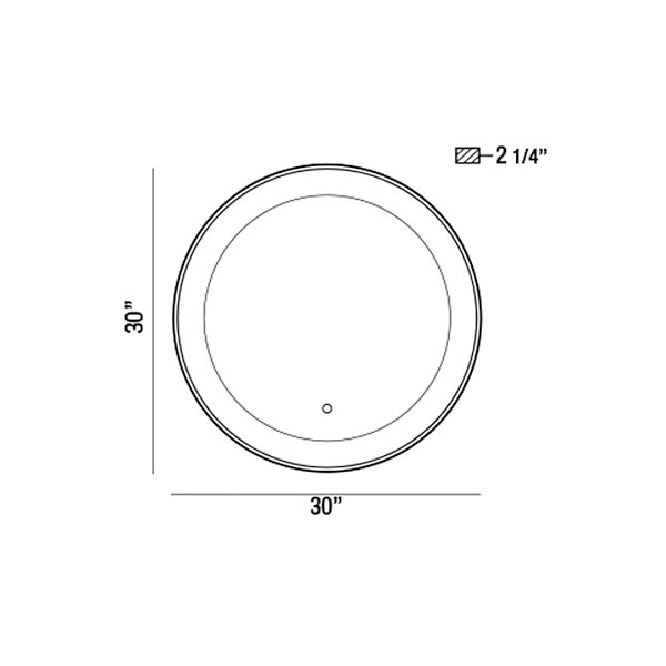 Edge-Lit Round LED Mirror