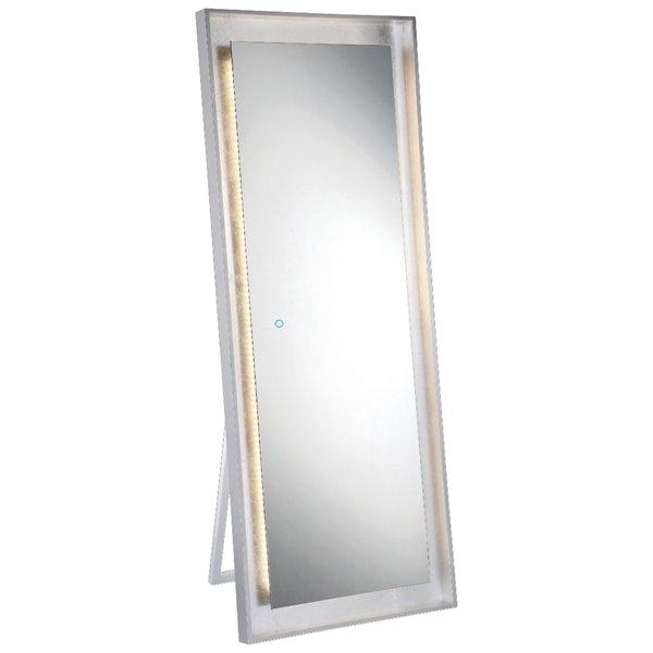 Edge-Lit Freestanding LED Mirror