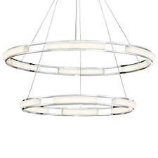 Fanton 2-Tier LED Ring Pendant