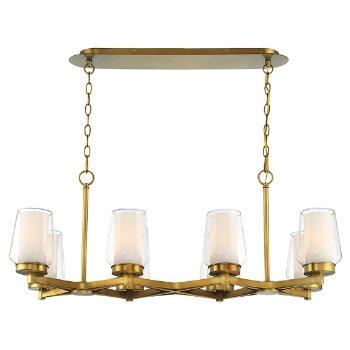 Shown in Brass finish, 8 Light