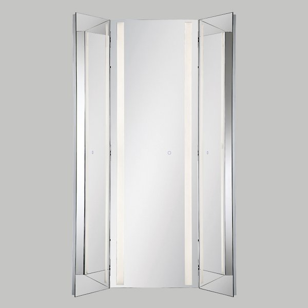 Tri-Fold LED Mirror
