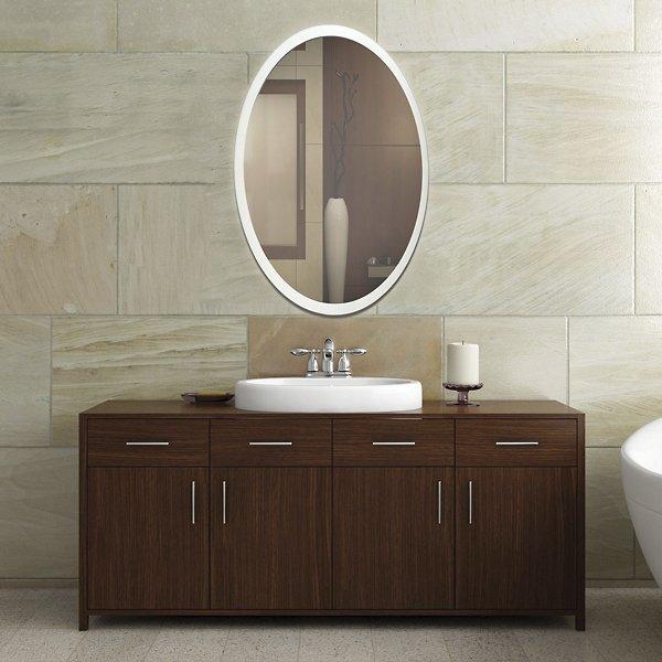 Oval Edge-Lit LED Mirror
