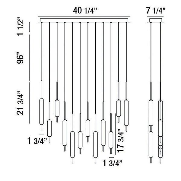 Cumberland LED Linear Suspension