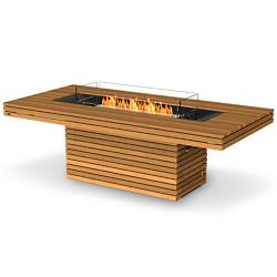 Gin 90 Dining Height Teak Fire Table