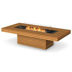 Gin 90 Chat Height Teak Freestanding Firepit