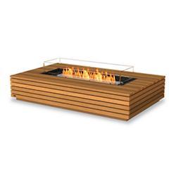 Wharf Teak Freestanding Fire Table