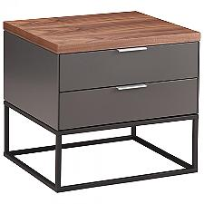 Gravity Side Table, 2 Drawers