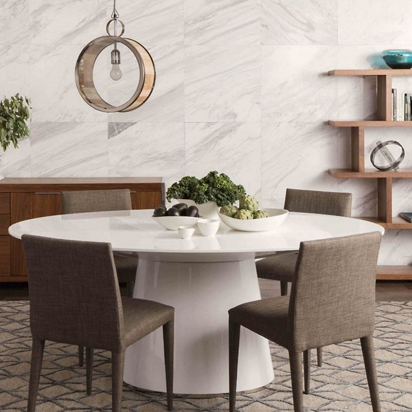 Orbit Oval Dining Table By Point Luna, White Oval Dining Room Table