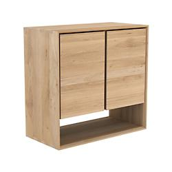 Oak Nordic Sideboard - 2 Open Doors