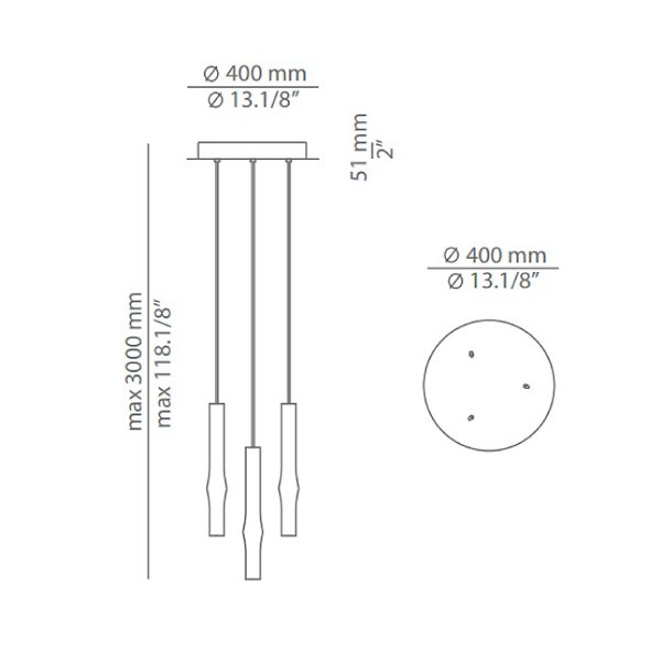 Flow LED Multi-Light Pendant