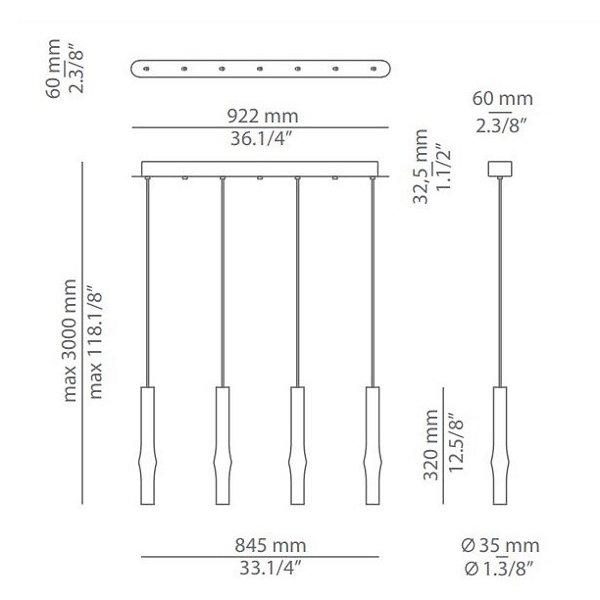Flow LED Linear Suspension