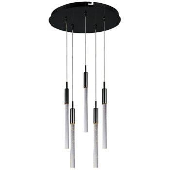 Shown in Black Chrome, 5 Lights