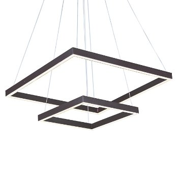 Quad 2-Tier LED Pendant