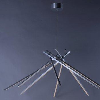 Shown in Satin Aluminum finish, 8 Light, in use