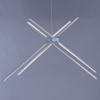 Shown in Satin Aluminum finish, 4 Light, in use