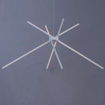 Shown in White finish, 4 Light, in use