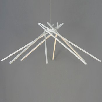 Shown in White finish, 8 Light, in use