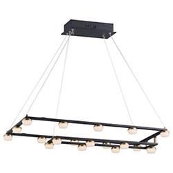 Button Rectangular LED Pendant