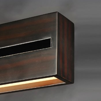 Shown in Wenge with Polished Chrome finish, 40 Inch, Detail view
