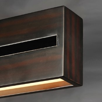 Shown in Wenge with Polished Chrome finish, 60 Inch, Detail view