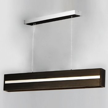 Shown in Wenge with Polished Chrome finish, 60 Inch