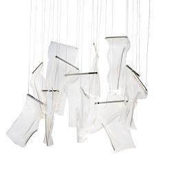 Rinkle LED Mutli Light Rectangular Pendant