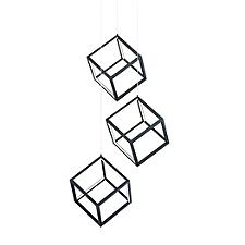 4 Square LED Multi-Light Pendant