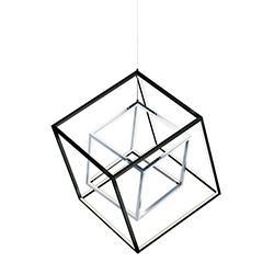 4 Square 2-Light LED Pendant