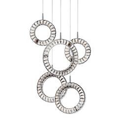 Charm Round LED Multi-Light Pendant