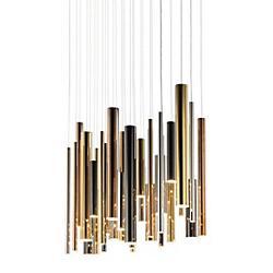 Flute LED Multi Light Pendant