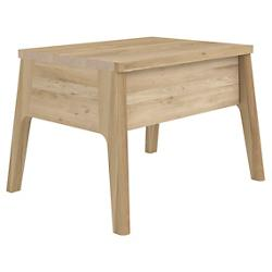 Oak Air Bedside Table - 1 Drawer
