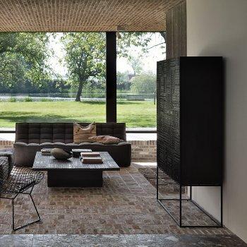 Ancestors Tabwa High Sideboard - 2 Doors - 2 Drawers with Ancestors Tabwa Blok Coffee Table and N701 3 Seater Sofa