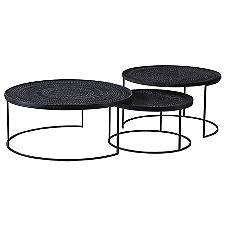 Ancestors Tabwa Round Nesting Coffee Table Set