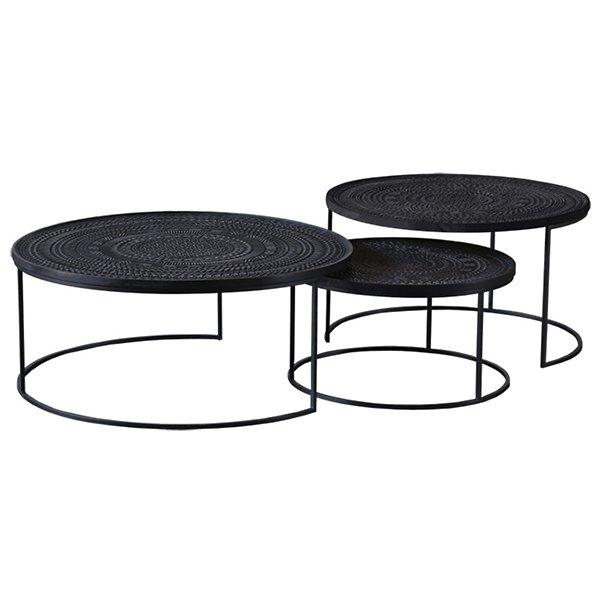 Ancestors Tabwa Round Nesting Coffee Table Set