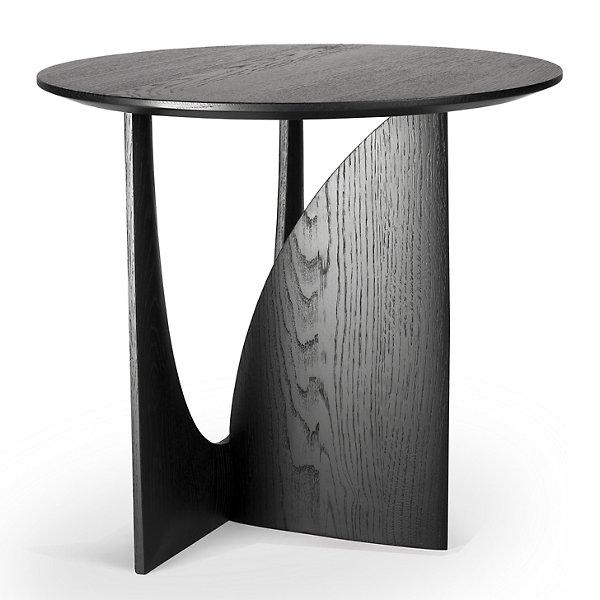 Oak Geometric Side Table