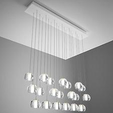 Beluga Multispot 20-Light Rectangular Pendant