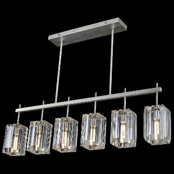 Shown in Silver Leaf finish, 6 Light