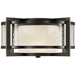 Singapore Moderne Outdoor Flushmount (Bronze) - OPEN BOX