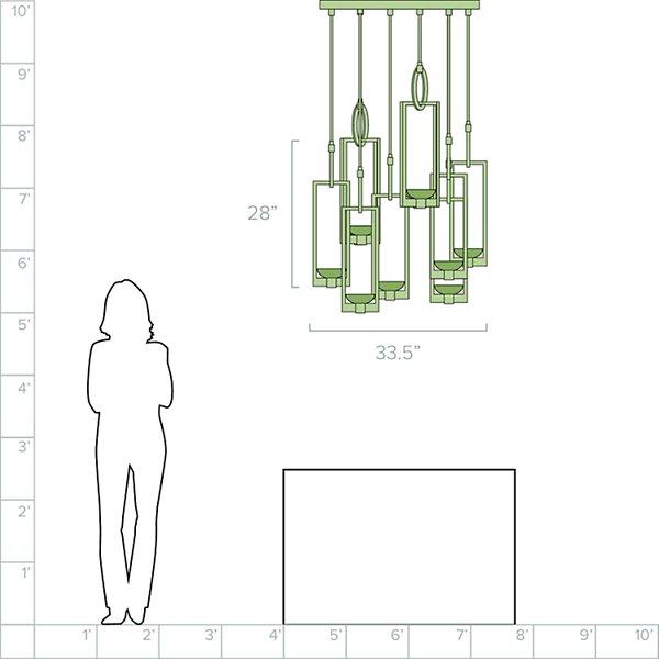 Delphi LED Multi-Light Pendant